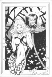Clea + Doctor Strange by MichaelBair