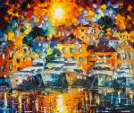 Boats Under The Sun by Leonid Afremov