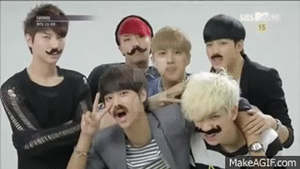 Vixx with mustaches! by CinnamintyAshes