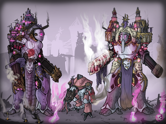 Slaanesh   Traitor Titans by LordCarmi