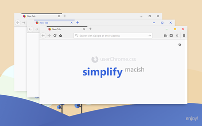 Simplify Macish for Firefox (userChrome.css) by dpcdpc11