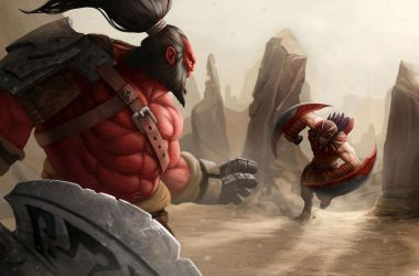 DOTA Axe and BloodSeeker by SafdarAliMirza