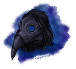 Plague Doctor tattoo commission by GR-the-queen