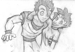 Videl and Gohan Chyah by COOKEcakes