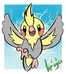 Cockatiel themed Fakemon by worstedwyvern