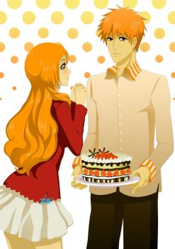 IchiHime: Cake by Eien-no-hime
