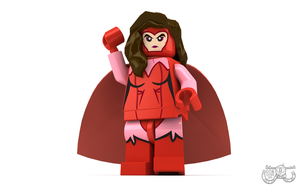 LEGO Minifigure - Scarlet Witch by Concore