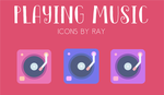 Playing Music Icons by Ray by Raiiy