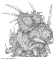 Styracosaurus Drawing by mmfrankford