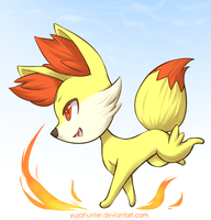 Pokemon XY - Fennekin by YuzaHunter