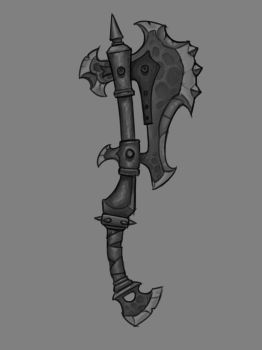 Warlord's Orcish War Axe - Final concept clean by WriteNRun
