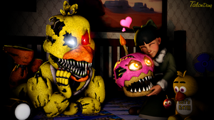 Looks like Cupcake is loved-Nightmare Chica by TalonDang