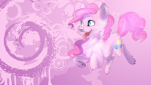 Pinkie Pie wolf wallpaper by AvareQ