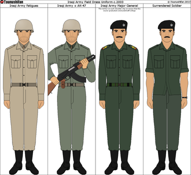 Iraqi Army Uniforms c.2003 by Grand-Lobster-King