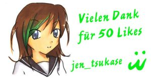 Thank you for 50 Likes on Facebook by jentsukase