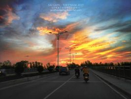 On the way home by ginathuyduong