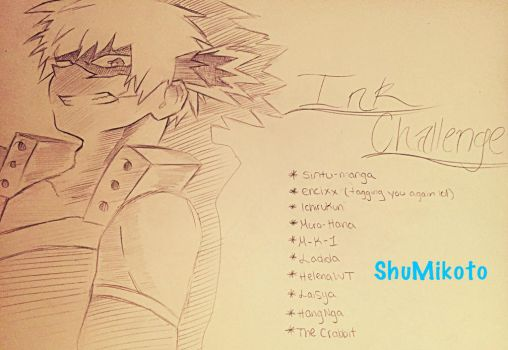 Tag Drawing (ink or pencil challenge)  by ShuMikoto15