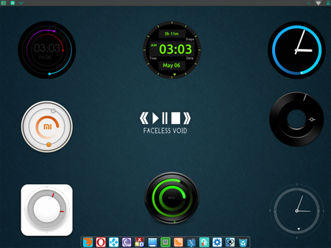 Conky-Miui-Clock by EtlesTeam