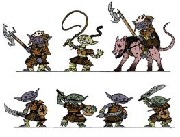 Colored Paizo Goblins by WhoDrewThis