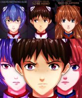 Evangelion: Chosen children by Amaipetisu