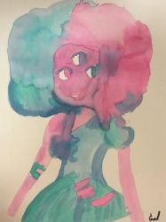Watercolor Cotton Candy Garnet by Gigiluv11