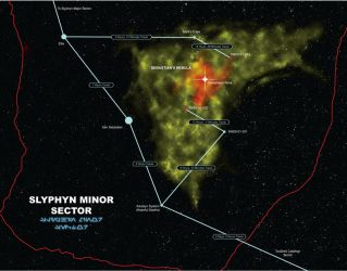 Slyphyn Minor Sector map by Shoguneagle