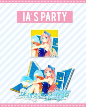 [Icon][Signature] IA's party - Vocaloid by jangkarin
