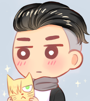 [YOI] Beka and cat Yura by Minosachino