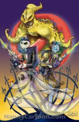 Halloween Town Ghostbusters by mannycartoon