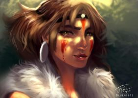 Princess Mononoke by Kureenbean