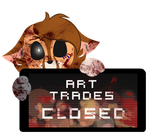 PC - Fennecee Art Trades Closed Stamp by BlueBismuth
