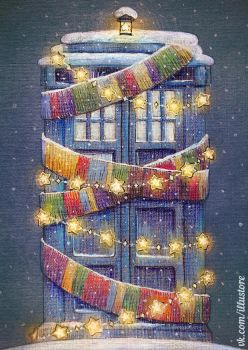 Tardis Christmas Card by nokeek