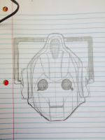 Cyberman head by SweetStrokesStudios
