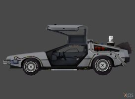 Delorean Time Machine for Xnalara - Rigged by OutaDimes
