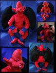 Red Arremer plushie 2012 by Silver-Ray