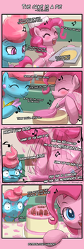 4koma Friday - The cake is a pie by luminaura