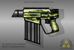 Fictional Firearm: HC-HG50X Heavy Pistol by CzechBiohazard