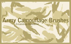 Army Camo brushes by NatalieEgles