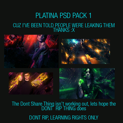Platina PSD Pack 1, Read DES. by Platinification