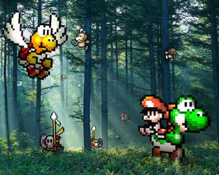 Retro Forest 'Yoshi's Isl.' by RETROnoob