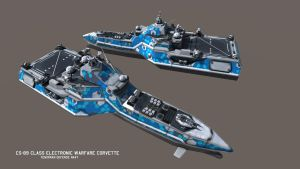FS-98 Class E-War Corvette - Final Version by Helge129