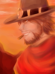 The wild west: Overwatch Mccree by cutecat54546
