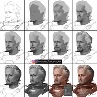 Step By Step  Hang Pyme Portrait painting by Ubermonster