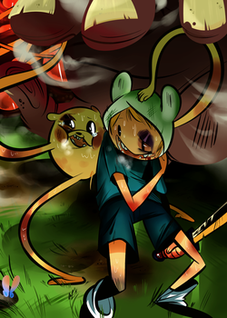 Finn and Jake by YardSaleCouch