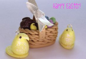 Easter Clay Charms by funkypinkgal