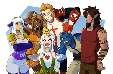 [Commission] Group picture by RiikoChick