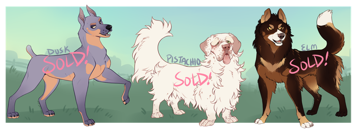 Dog Adoptables 4 [AUCTION - CLOSED] by Machati