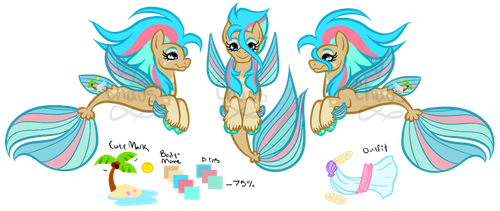 .:Merpony custom for TwinWolfSister:. by Chaosaholic