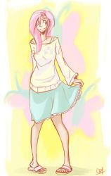 Human Fluttershy by Coin-Trip39