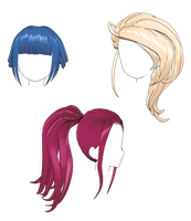 [MMD] Hair Pack 2 (DL) by auauauaua